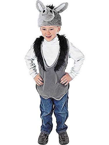 Plush Donkey Kids Costumes (Donkey Costume Vest Plush Hat Nativity)