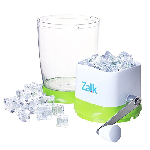 Zalik Ice Crusher Manual Hand Crank Ice Grinder For Fine Or Coarse Pieces - Strongest Heaviest Duty With Large 50 OZ Bucket - 430 Stainless Steel Blade - Essential Kitchen Tool - Bar Accessory by Zalik (Image #4)