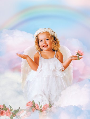 Valerie Tabor Smith Rainbow Angel Costume - Toddler (size (Heavenly Baby And Toddler Angel Costumes)