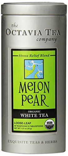 (Octavia Tea Melon Pear White Tea, Loose Tea, 1.23 Ounce Tin )