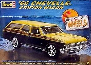 Revell 1/25 66 Chevelle Station Wagon Custom Kit (Chevelle 66)