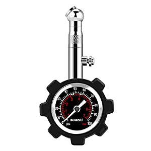 Suaoki Tire Pressure Gauge 100 PSI - Accurate & Heavy Duty Air Pressure Tire Gauge for Car Truck Motorcycle Bicycle