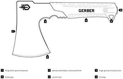 Gerber 1027507 Pack Hatchet, Silver, M