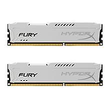 HyperX Fury - Memoria RAM de 16 GB (1866 MHz DDR3 Non-ECC CL10 DIMM, Kit 2x8 GB), Blanco