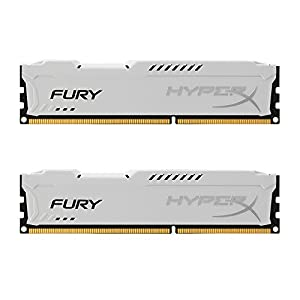 Kingston HyperX FURY 16GB Kit (2x8GB) 1866MHz DDR3 CL10 DIMM - White (HX318C10FWK2/16) 41DW7F0YwaL. SS300
