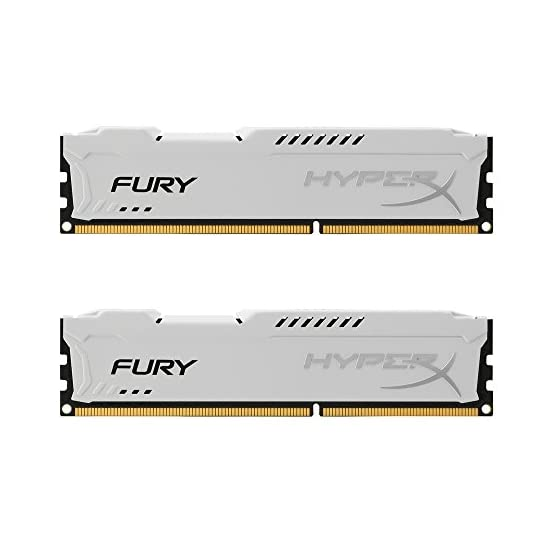Kingston HyperX FURY 16GB Kit (2x8GB) 1866MHz DDR3 CL10 DIMM - White (HX318C10FWK2/16) 41DW7F0YwaL. SS555