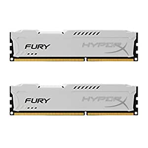 Kingston HyperX FURY 8GB Kit (2x4GB) 1866MHz DDR3 CL10 DIMM - White (HX318C10FWK2/8)