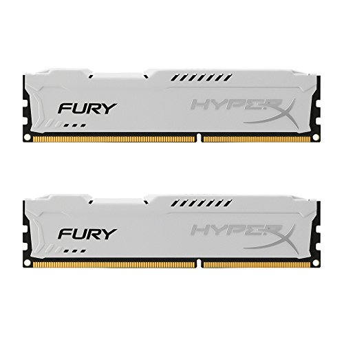 Kingston HyperX FURY 8GB Kit (2x4GB) 1866MHz DDR3 CL10 DIMM - White (HX318C10FWK2/8) (Motherboard Ddr3 1866)
