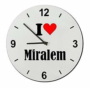 """EXCLUSIVO: Vidrio de reloj """"I Love Miralem"""" una gran idea para un regalo para su pareja, colegas y muchos más! - reloj, Regaluhr, Regalo, Amo, Made in Germany."""