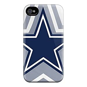 DustinFrench Iphone 4/4s Scratch Protection Phone Case Provide Private Custom Colorful Dallas Cowboys Series [mFW6819lsAZ]