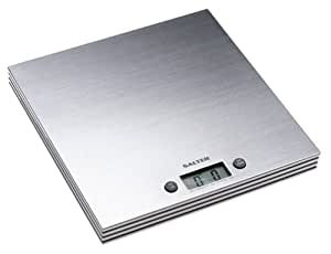 Salter 11-Pound Square Stainless-Steel Digital Kitchen Scale