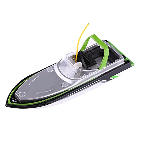 Mini Boat,Electric Remote Control Speedboat Kids Toy Ship for Pools and Lakes(Green)