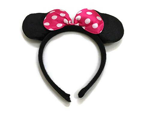 Rush Dance Pink Minnie Mouse Ears Birthday Party Favor Bow Accessories (Newborn Mickey Mouse Costume)