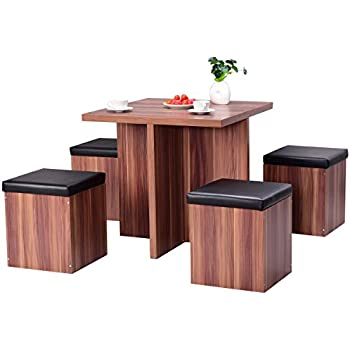 Amazon Simple Living 5 piece Baxter Dining Set with Storage