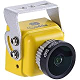 Caddx FPV Camera, Turbo SDR2 FPV Camera 1/2.8 Starvis Exmor-COMS 1200TVL 2.1mm Lens NTSC/PAL 16:9/4:3 5V-40V Wide Voltage for FPV Racing Drone, Yellow