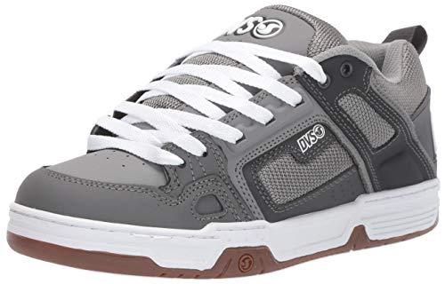 DVS Men's Comanche Skate Shoe, Grey Charcoal Gum Nubuck, 8 Medium US