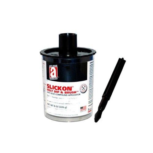 Anti-Seize Technology 20338, Slickon Bolt Dip & Brush Applicator Filled with Metal Free 2000, 8 oz, Pack of 6 pcs