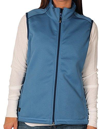 OuterBoundry Women's Smartech Performance Micro-Fleece Vest, Blue, Size (Blue Micro Performance Fleece)