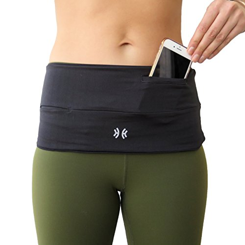 Running Belt Waist Pack, Wide Fitness , Money Belt Waistpack, Insulin Pump Belt Fanny Pack | The Original Hip Hug PRO with Sweatproof pocket, Fits iPhone plus | Available in Plus Sizes S-XXL