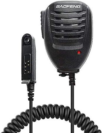 Baofeng Handheld Microphone Speaker Two Way Radio Speaker Microphone with Red Light