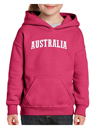 Mom`s Favorite Australia Flag Sydney Traveler Gift Unisex Hoodie for Girls and Boys (LHP) Heliconia Pink ()