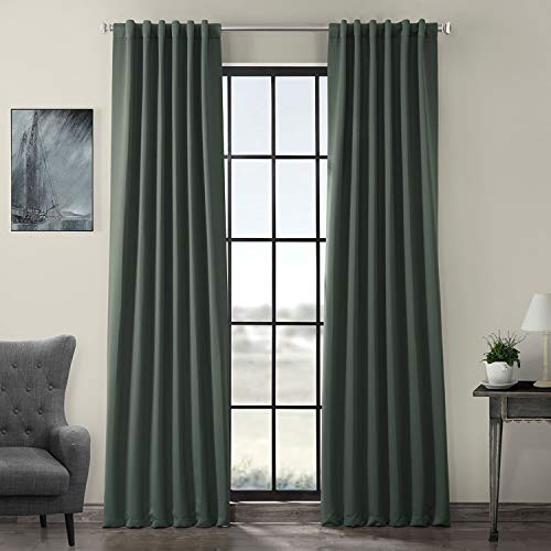 Exclusive Fabrics & Furnishing Blackout Curtain Panel (Set of 2) 50-in W 96-in L