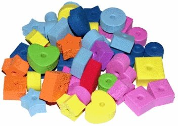 1695 Pack of 400 Foam Craft Stringing Lacing Beads with Holes, Assorted Bright Colors Multiple Sizes and Shapes for School Projects, Art Class, Jewelry Making. by Bonka Bird Toys