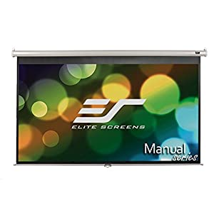 Elite Screens Manual, 135-inch 16:9, Pull Down Projection Manual Projector Screen with Auto Lock, M135XWH2