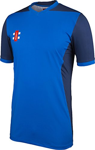 (Gray-Nicolls Cricket Shirt T20 Royal/Navy 9-10)