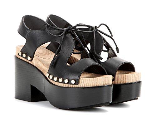 Balenciaga Damen 410951W0WM01000 Schwarz Leder Sandalen