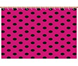 Hot Pink Polka Dot Shower Curtain iPrint Funky Shower Curtain [ Hot Pink,Pop Art Inspired Design Retro Pattern of Black Polka Dots Classical Spotted,Hot Pink Black ] Bathroom Accessories