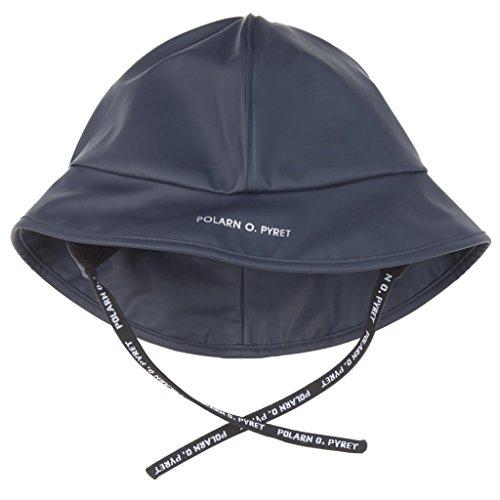 Polarn O. Pyret North Easter RAIN Hat (Baby) - 9-12 Months/Dark (Storm Waterproof Hat)