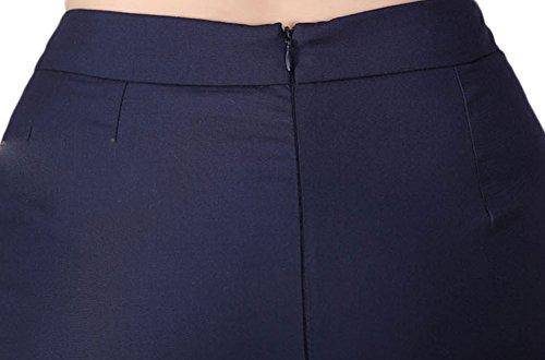 Soojun Women's Slim Fit Ruffle High Waiste OL Business Pencil Short Skirt