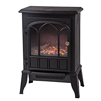 Electric Fireplace Heater Free Standing Portable, 750W/1500W Fireplace Heater from BestMassage