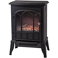 BestMassage Electric Fireplace Heater Free Standing Portable, 750W/1500W Fireplace Heater