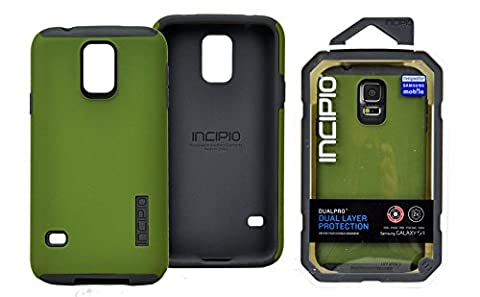 INCIPIO DualPro Case for Samsung Galaxy S5 - Olive Green (Incipio Phone Case For Galaxy S5)