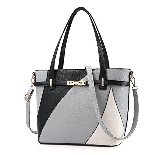 6a13ac114e22 Galleon - Top Handle Bags For Women Leather Tote Purses Handbags Satchel  Crossbody Shoulder Bag Form Nevenka (Gray)