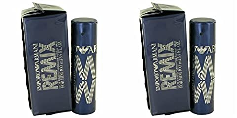 Giorgió Armáni Empŏrio Rĕmix Cŏlogne For Men 3.4 oz Eau De Toilette Spray (2 Pack) + a FREE Wings Cologne 3.4 oz Shower (Emporio Armani Eau De Toilette)