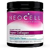 NeoCell Super Collagen Powder, French Vanilla 7oz, Non-GMO, Grass Fed, Paleo Friendly, Collagen Peptides Types 1 & 3 for…
