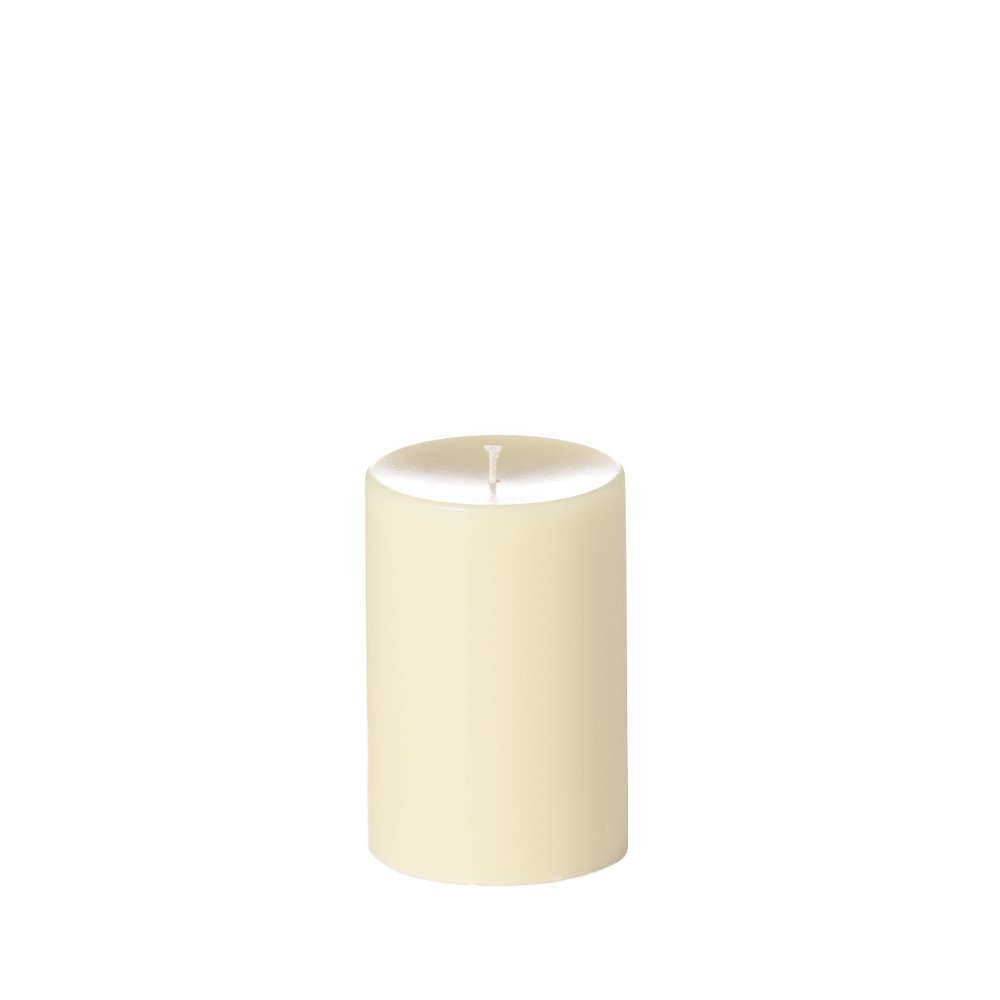 Case of 4 - Yummi 4x6 Unscented Column Pillar Candles, Ivory