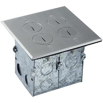 Lew Electric Swb 4 Pq Lr Floor Box Flip Lid Quad Box W