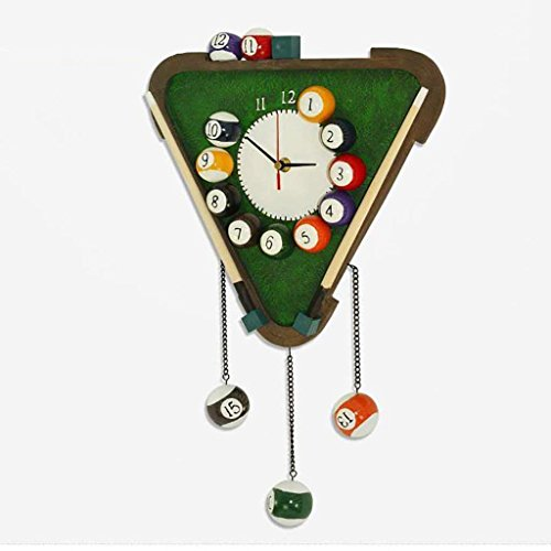 ChuanHan Resin European Living Room Creative Personality Fashion Pastoral Art Clocks Mute Billiards Wall Clock ()