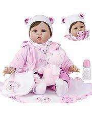 ZIYIUI 22inch 55cm Reborn Dockor flicka silikon baby dolls girls realistic bebe toddler pojke billig realistiska babydockor