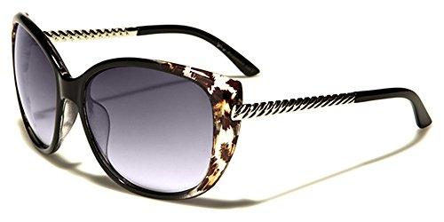sol Vibrante Ovalado Para Gafas Cabaña INCLUIDO leopardo PLATA BOLSA UV400 COMPLETO Moda Dama de Protección De GRATIS VG negro Diseñador MICROFIBRA estampado OFCw5q68