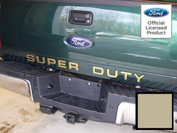 Ford SUPER DUTY Letter Inserts (thin) for Tailgate Sand Gold - CSGD (2008-2016) F250 F350 F450 Decals Stickers