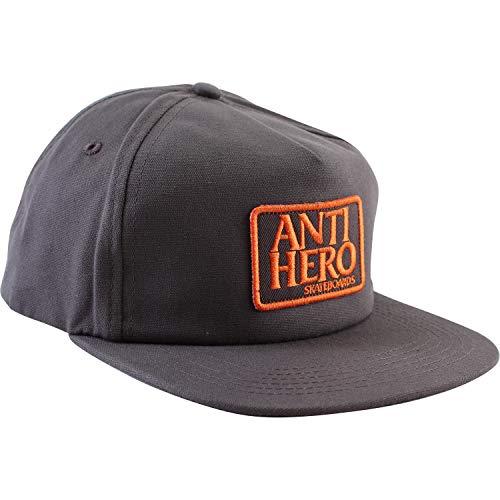 d1f2bd70c0c Anti Hero Skateboards Reserve Charcoal Black Patch Hat - Adjustable