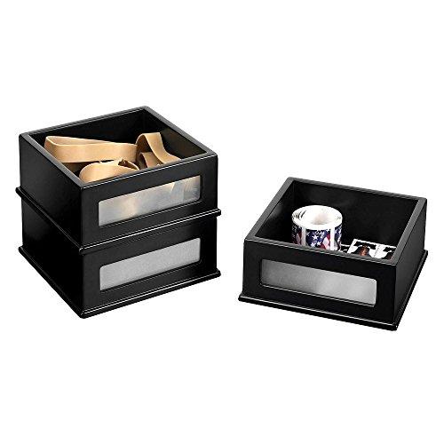 Victor Wood Desk Accessories, Mini Stacking Bin, Three Pack