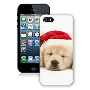 Customized Design Cute Sleeping Dog With Red Christmas Hat Case For Samsung Galaxy S5 Cover Case,Phone Case For Samsung Galaxy S5 Cover,Case For Samsung Galaxy S5 Cover White PC Cover