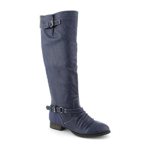 Breckelles Womens Outlaw-81 Boot - Blue/Black Zipper Size 6.5 nbi9ZFVU