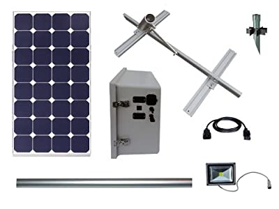 Best Cheap Deal for Sign Lighting Kit Run By Industrial Solar 100 Watt Mono Solar Panel It Runs a 30 Watt High Lumen LED Turn Key Suninone Kit by Wise Power Systems, Inc. - Free 2 Day Shipping Available